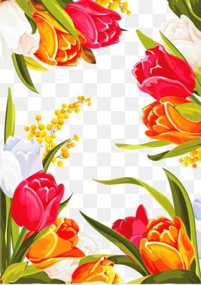 Hand-painted Tulip - Flower Floral Design Graphic Design Clip Art PNG