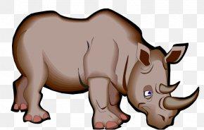 Cartoon Rhino - Rhinoceros Cartoon Clip Art PNG