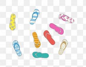 Beach Slippers - Sandy Beach Slipper Flip-flops PNG