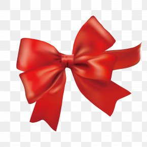 Vector Red Bow Decoration - With Ribbon Red PNG