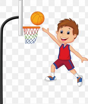 Creative Basketball Players - Basketball Sport Child Clip Art PNG