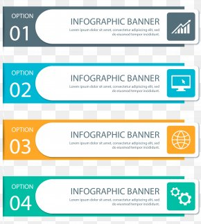 Vector Hand Painted Color PPT - Infographic Web Banner Euclidean Vector Presentation PNG
