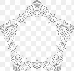 Line Frame - Line Art Decorative Arts Drawing PNG