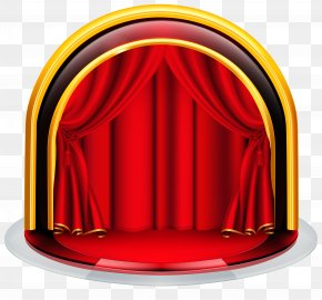 Stage With Red Curtains Clipart Image - Red Font PNG
