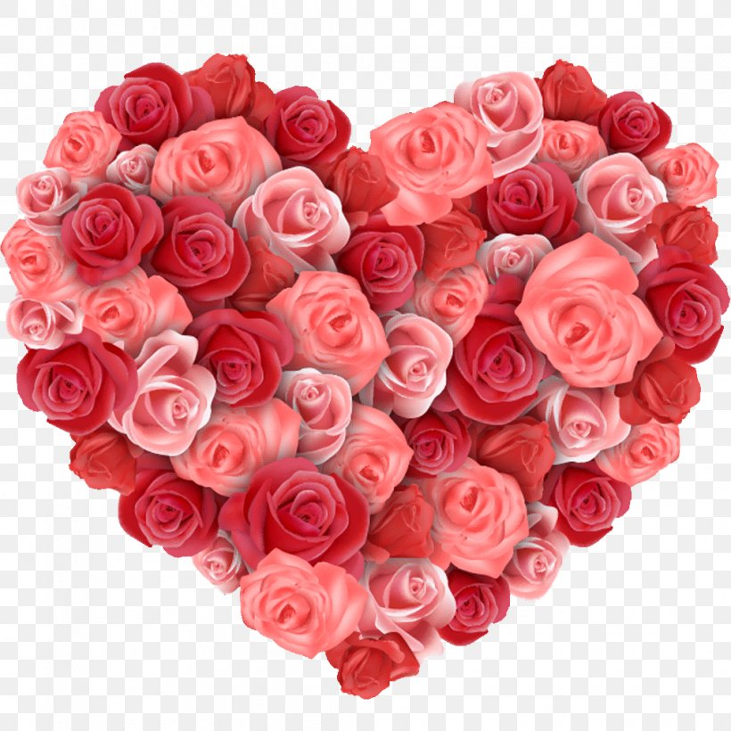 Flower Heart Rose Valentines Day Png 1015x1015px