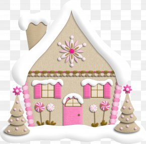 Christmas House - Santa Claus Christmas Tree Christmas Gift PNG