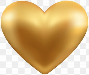 Gold Heart Transparent Clip Art - Gold Clip Art PNG