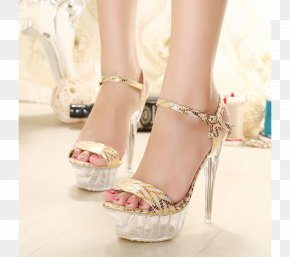 Sandal - High-heeled Shoe Sandal Slipper PNG