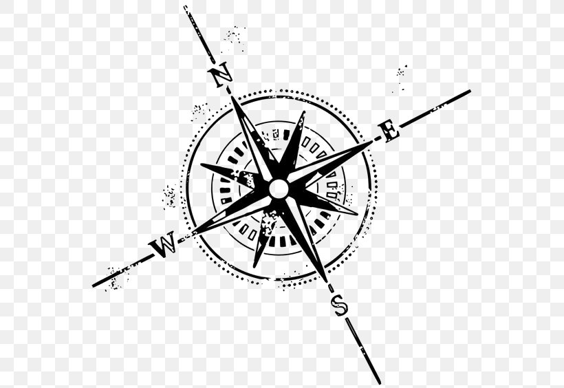 Compass Rose Tattoo Symbol Clip Art, PNG, 564x564px, Compass, Abziehtattoo, Area, Art, Bicycle Wheel Download Free