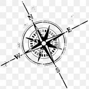 Compass - Compass Rose Tattoo Symbol Clip Art PNG
