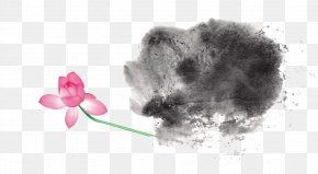 Creative Ink - Ink Wash Painting Four Treasures Of The Study Ink Brush Inkstick PNG