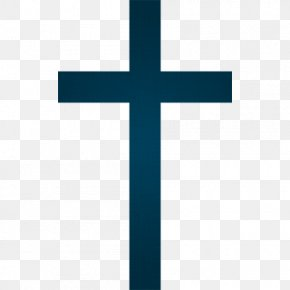 Christian Cross Picture - Cross Angle Blue Pattern PNG