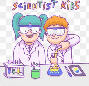 Vector Color Scientist - Komxe1rom Scientist Euclidean Vector Child PNG