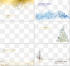 Christmas Card Decorative Painting Set Vector - Christmas Card Greeting Card Christmas Decoration PNG