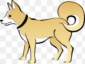 Dog Breed Canaan Dog - Dog Line Art Clip Art Tail Canaan Dog PNG