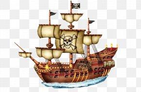 Ancient Sailing - Piracy Ship Boat Cupcake Drawing PNG