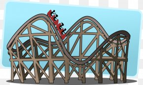 Amusement Cliparts - The Roller Coaster Amusement Park Clip Art PNG