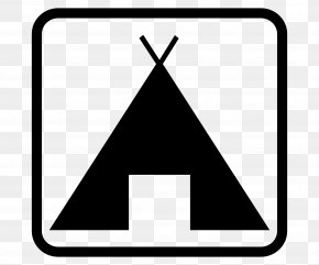 Teepee - Campsite Camping Tent Map Symbolization Clip Art PNG