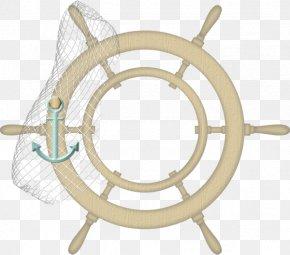 Nautical Rudder Steering Wheel - Car Rudder Steering Wheel Watercraft PNG