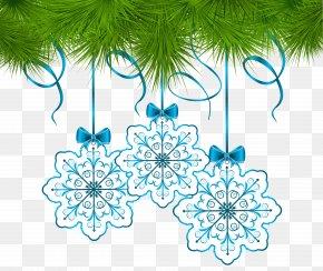 Garland - Christmas Ornament Snowflake Clip Art PNG