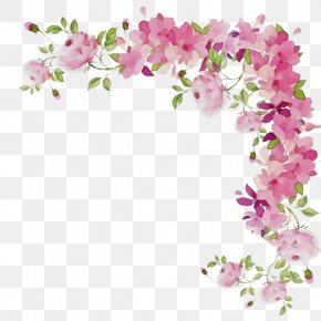 Artificial Flower Orchid - Watercolor Pink Flowers PNG