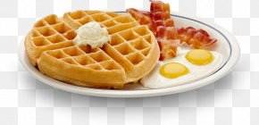 Breakfast Image - Sausage Belgian Waffle French Toast Bacon PNG