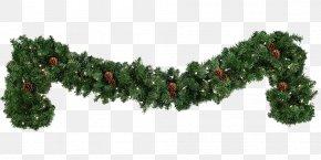 Green Pine Leaf Door Decoration - Garland Christmas Wreath Clip Art PNG