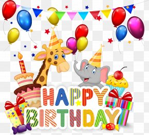 Happy Birthday - Birthday Cake Cupcake Cartoon PNG