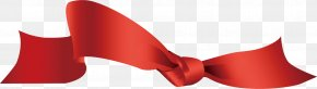 Ribbon - Red Ribbon Shoelace Knot PNG