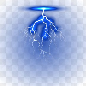 Blue Flash - Electric Current Lightning Electricity PNG