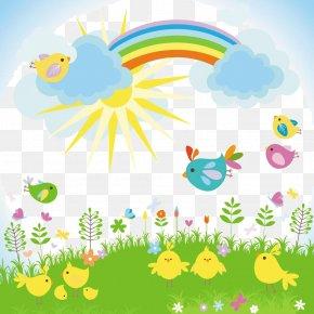 Blue Sky Rainbow - Cartoon Royalty-free Illustration PNG