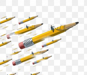 Fly Pencil - Paper Pencil Leadership PNG