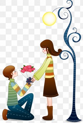 Cartoon Couple Vector - Valentines Day Qixi Festival Romance Illustration PNG