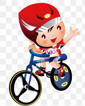 Boy Riding Bicycle Race - Cycling Olympic Sports Drawing Clip Art PNG
