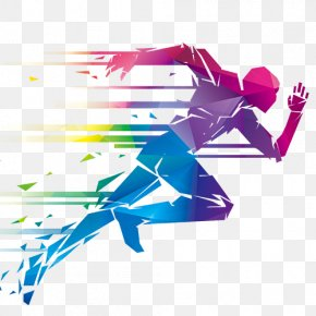 Creative Creative Vector - Running Illustration PNG