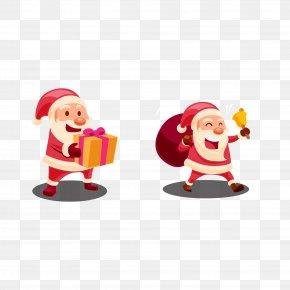 Vector Santa Claus - Santa Claus Gift Christmas Ornament Clip Art PNG