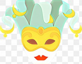 Headgear Costume - Yellow Head Nose Mask Line PNG