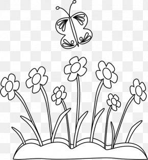 Flower Pot Clipart Black And White - Flower Black Clip Art PNG