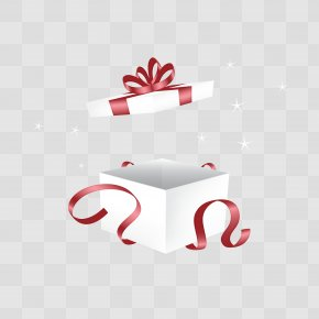 Open White Gift Box Vector Diagram - Gift Decorative Box PNG