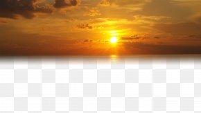 Golden Sky Sunset PNG