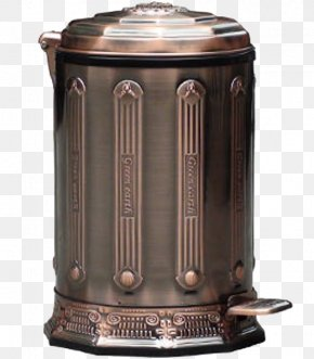 European-style Double-deck Trash Can - Waste Container Pedaal PNG