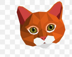 Low Poly - Cat Low Poly Art Animal PNG