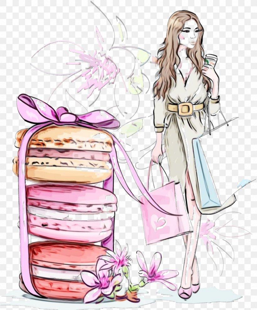 Pink Cartoon Plant Long Hair, PNG, 831x1000px, Watercolor Girl, Abstract Girl, Cartoon, Fashion Girl, Long Hair Download Free