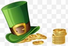 St Patricks Day Hat And Coins Transparent PNG Clip Art Image - Saint Patrick's Day Republic Of Ireland Clip Art PNG