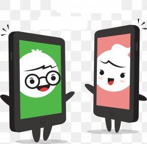 Smartphone Villain Dialog - Cartoon Online Chat Clip Art PNG