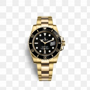 Rolex - Rolex Submariner Watch Colored Gold PNG