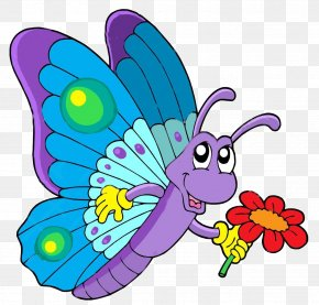 Pink Cartoon - Butterfly Coloring Book Drawing Clip Art PNG
