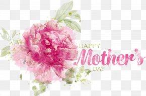 Happy Mothers Day Flyer - Centifolia Roses Cut Flowers Floral Design Flower Bouquet PNG