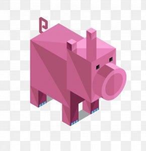 Origami Pig - Pig T-shirt Illustration PNG