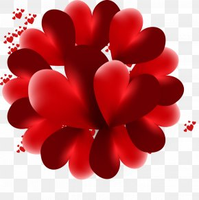 Hearts - Heart Love Valentine's Day 3D Computer Graphics PNG